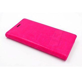 Huawei  P9 Pasjeshouder Roze Booktype hoesje - Magneetsluiting - Kunststof;TPU