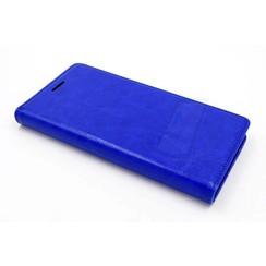 Huawei  P9 Pasjeshouder Blauw Booktype hoesje - Magneetsluiting - Kunststof;TPU