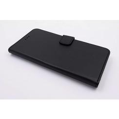 Huawei  P10 Pasjeshouder Zwart Booktype hoesje - Magneetsluiting - Kunststof;TPU