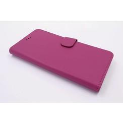 Huawei  P10 Pasjeshouder Roze Booktype hoesje - Magneetsluiting - Kunststof;TPU