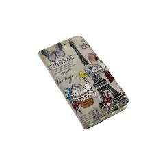 Huawei  P8 Lite (2017) Pasjeshouder Print Booktype hoesje - Magneetsluiting - Kunststof;TPU