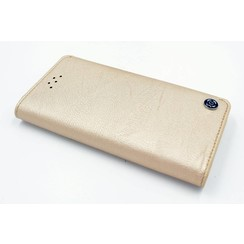 Apple iPhone 6/6S Pasjeshouder Goud Booktype hoesje - Magneetsluiting - Kunststof;TPU