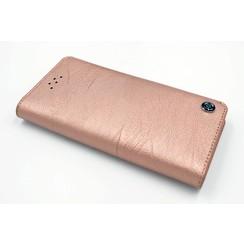 Apple iPhone 6/6S Pasjeshouder Roze Booktype hoesje - Magneetsluiting - Kunststof;TPU