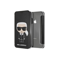 Karl Lagerfeld book case for iPhone Xs Max - Black (3700740439142)