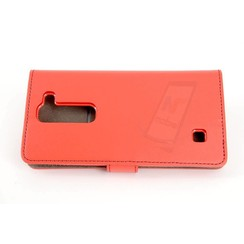 LG Optimus G4 Pasjeshouder Rood Booktype hoesje - Magneetsluiting - Kunststof;TPU