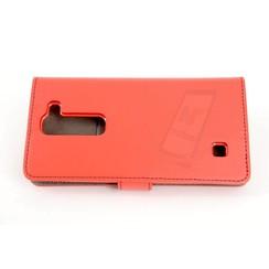 LG Optimus G4 Titulaire de la carte Rouge Book type housse - Fermeture magnétique