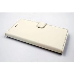 Huawei  Honor 7 Kartenhalter Weiß Book-Case hul -Magnetverschluss - Kunststof;TPU