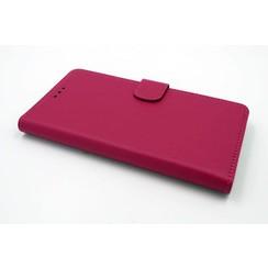 Huawei  Honor 7 Pasjeshouder Roze Booktype hoesje - Magneetsluiting - Kunststof;TPU