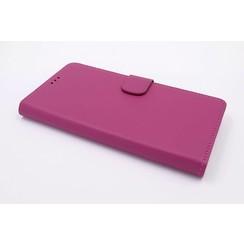 LG Optimus G6 Pasjeshouder Hot Pink Booktype hoesje - Magneetsluiting - Kunststof;TPU