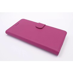 Motorola Moto G Kartenhalter Hot Pink Book-Case hul -Magnetverschluss - Kunststof;TPU