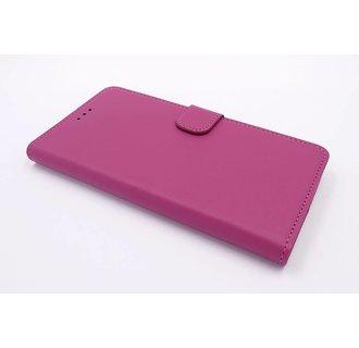 Motorola Moto G Pasjeshouder Hot Pink Booktype hoesje - Magneetsluiting - Kunststof;TPU