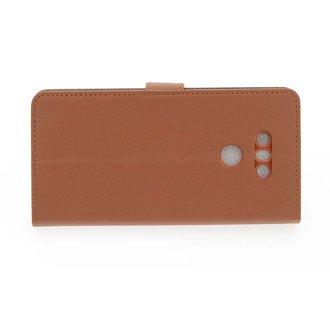 LG Optimus G6 Pasjeshouder Bruin Booktype hoesje - Magneetsluiting - Kunststof;TPU