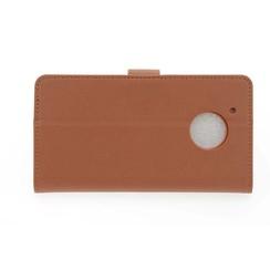 Motorola Moto G Pasjeshouder Bruin Booktype hoesje - Magneetsluiting - Kunststof;TPU