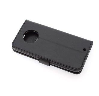 Motorola Moto X4 Pasjeshouder Zwart Booktype hoesje - Magneetsluiting - Kunststof;TPU