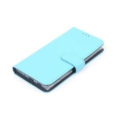 Nokia 2 Pasjeshouder Blauw Booktype hoesje - Magneetsluiting - Kunststof;TPU
