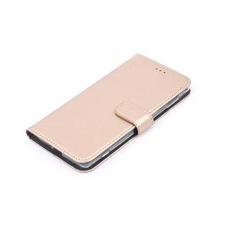 Nokia 6 Pasjeshouder Goud Booktype hoesje - Magneetsluiting - Kunststof;TPU