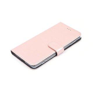 Nokia 6 Pasjeshouder Roze Booktype hoesje - Magneetsluiting - Kunststof;TPU