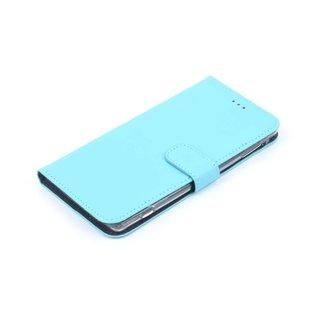 Nokia 6 Pasjeshouder Blauw Booktype hoesje - Magneetsluiting - Kunststof;TPU