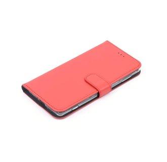 Nokia 6 Pasjeshouder Rood Booktype hoesje - Magneetsluiting - Kunststof;TPU
