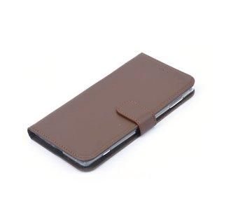 Nokia 6 Pasjeshouder Bruin Booktype hoesje - Magneetsluiting - Kunststof;TPU