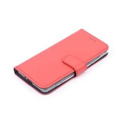 Nokia 7 Plus Pasjeshouder Rood Booktype hoesje - Magneetsluiting - Kunststof;TPU