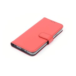 LG Q6 Kartenhalter Braun Book-Case hul -Magnetverschluss - Kunststof;TPU