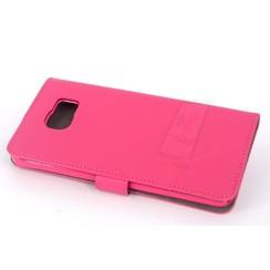 Samsung Galaxy Note5 Pasjeshouder Roze Booktype hoesje - Magneetsluiting - Kunststof;TPU