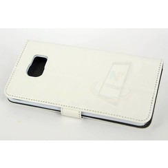 Samsung Galaxy Note5 Pasjeshouder Wit Booktype hoesje - Magneetsluiting - Kunststof;TPU