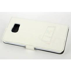 Samsung Galaxy Note5 Titulaire de la carte Blanc Book type housse - Fermeture magnétique