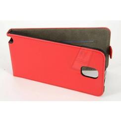 Samsung Galaxy Note4 Titulaire de la carte Rouge Book type housse - Fermeture magnétique