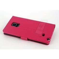 Samsung Galaxy Note4 Titulaire de la carte Rose Book type housse - Fermeture magnétique