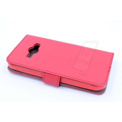 Samsung Galaxy J1 Ace - J110 - Business Leatherette Book case - Red