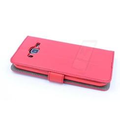 Samsung Galaxy J2 (2016) Pasjeshouder Rood Booktype hoesje - Magneetsluiting - Kunststof;TPU