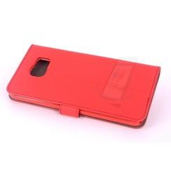 Samsung Galaxy Note5 Pasjeshouder Rood Booktype hoesje - Magneetsluiting - Kunststof;TPU