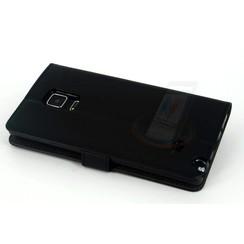 Samsung Galaxy Note4 Pasjeshouder Zwart Booktype hoesje - Magneetsluiting - Kunststof;TPU