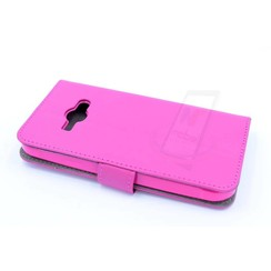 Samsung Galaxy J1 Ace - J110 - Business Leatherette Book case - Hot Pink