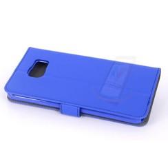 Samsung Galaxy Note5 Pasjeshouder Blauw Booktype hoesje - Magneetsluiting - Kunststof;TPU