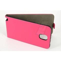 Samsung Galaxy Note4 Pasjeshouder Roze Booktype hoesje - Magneetsluiting - Kunststof;TPU