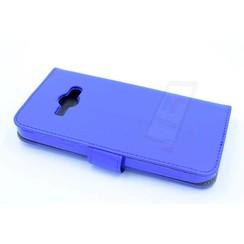 Samsung Galaxy J1 Ace - J110 - Business Leatherette Housse coque - Bleu
