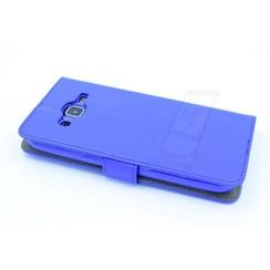 Samsung Galaxy J2 (2016) Pasjeshouder Blauw Booktype hoesje - Magneetsluiting - Kunststof;TPU