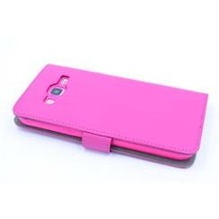 Samsung Galaxy J5 (2015) Titulaire de la carte Rose Book type housse - Fermeture magnétique