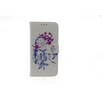 Samsung Galaxy J3 (2016) Pasjeshouder Print Booktype hoesje - Magneetsluiting - Kunststof;TPU