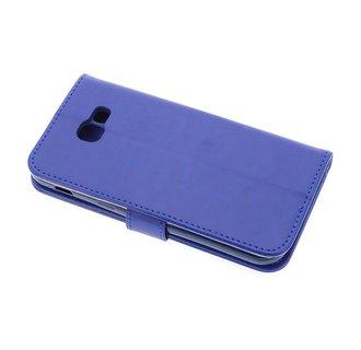 Samsung Galaxy A5 (2017) Pasjeshouder Blauw Booktype hoesje - Magneetsluiting - Kunststof;TPU