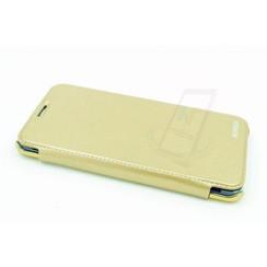Samsung Galaxy S6 Edge+ Titulaire de la carte Or Book type housse - Fermeture magnétique