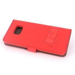 Samsung Galaxy S6 Edge+ Titulaire de la carte Rouge Book type housse - Fermeture magnétique