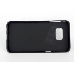 Samsung Galaxy S6 Edge PLUS - G928T - Matt Backcover Silicone coque - noir