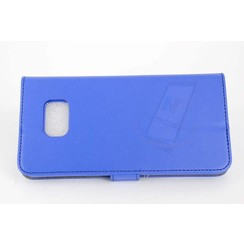 Samsung Galaxy S6 Edge+ Pasjeshouder Blauw Booktype hoesje - Magneetsluiting - Kunststof;TPU