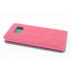 Samsung Galaxy S6 Edge+ Card holder Pink Book type case for Galaxy S6 Edge+ Magnetic closure