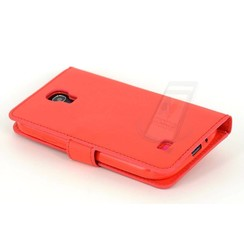 Samsung Galaxy S4 - i9505 - 1 Card holder Book case - Red 2