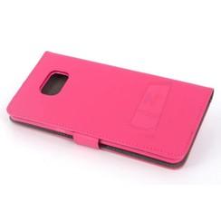 Samsung Galaxy S6 Edge+ Pasjeshouder Roze Booktype hoesje - Magneetsluiting - Kunststof;TPU